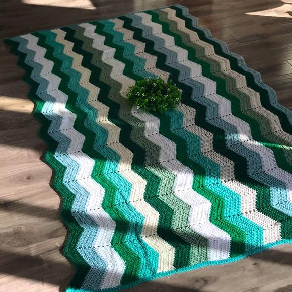 VINTAGE Chevron Granny Blanket